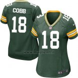 Maglia NFL Game Donna Green Bay Packers Cobb Verde Militar