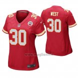 Maglia NFL Game Donna Kansas City Chiefs Charcandrick West Rosso