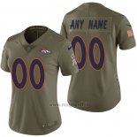 Maglia NFL Limited Donna Denver Broncos Personalizzate 2017 Salute To Service Verde