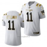 Maglia NFL Limited New England Patriots Julian Edelman Golden Edition 2020 Bianco