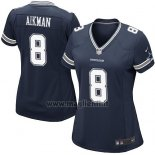 Maglia NFL Game Donna Dallas Cowboys Aikman Blu