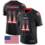 Maglia NFL Limited Arizona Cardinals Fitzgerald Rush USA Flag Nero