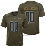 Maglia NFL Limited Bambino Los Angeles Chargers Personalizzate Salute To Service Verde