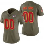 Maglia NFL Limited Donna Kansas City Chiefs Personalizzate 2017 Salute To Service Verde