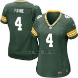 Maglia NFL Game Donna Green Bay Packers Favre Verde Militar2