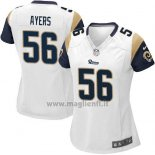 Maglia NFL Game Donna Los Angles Rams Ayers Bianco