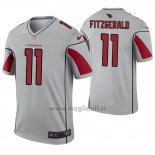 Maglia NFL Legend Arizona Cardinals 11 Larry Fitzgerald Inverted Grigio