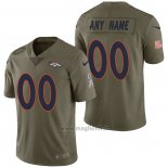 Maglia NFL Limited Denver Broncos Personalizzate 2017 Salute To Service Verde