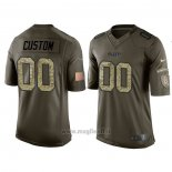 Maglia NFL Limited Kansas City Chiefs Personalizzate Salute To Service Verde2