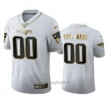Maglia NFL Limited New England Patriots Personalizzate Golden Edition Bianco