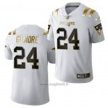 Maglia NFL Limited New England Patriots Stephon Gilmore Golden Edition 2020 Bianco