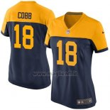 Maglia NFL Game Donna Green Bay Packers Cobb Nero Giallo