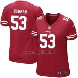Maglia NFL Game Donna San Francisco 49ers Bowman Rosso