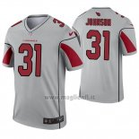 Maglia NFL Legend Arizona Cardinals 31 David Johnson Inverted Grigio
