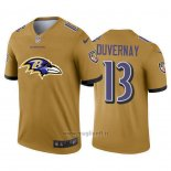 Maglia NFL Limited Baltimore Ravens Duvernay Big Logo Giallo