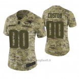 Maglia NFL Limited Donna New England Patriots Personalizzate 2018 Salute To Service Verde