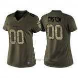 Maglia NFL Limited Donna New England Patriots Personalizzate Salute To Service Verde