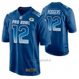 Maglia NFL Limited Green Bay Packers Aaron Rodgers 2019 Pro Bowl Blu