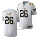 Maglia NFL Limited New England Patriots Sony Michel Golden Edition 2020 Bianco