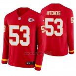 Maglia NFL Therma Manica Lunga Kansas City Chiefs Anthony Hitchens Rosso