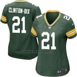 Maglia NFL Game Donna Green Bay Packers Clinton Dix Verde Militar