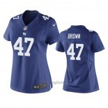 Maglia NFL Game Donna New York Giants Cameron Brown Blu
