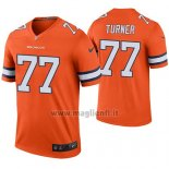Maglia NFL Legend Denver Broncos Billy Turner Arancione Color Rush