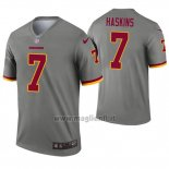 Maglia NFL Legend Washington Redskins 7 Dwayne Haskins Inverted Grigio