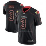 Maglia NFL Limited Arizona Cardinals Josh Rosen Nero Color Rush 2018 Lights Out