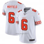 Maglia NFL Limited Cleveland Browns Mayfield Team Logo Fashion Bianco