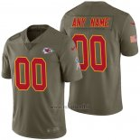 Maglia NFL Limited Kansas City Chiefs Personalizzate 2017 Salute To Service Verde