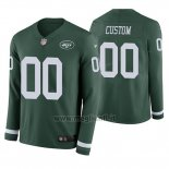 Maglia NFL New York Jets Personalizzate Verde Therma Manica Lunga
