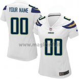 Maglia NFL Donna Los Angeles Chargers Personalizzate Bianco