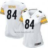 Maglia NFL Game Donna Pittsburgh Steelers Brown Bianco
