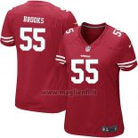 Maglia NFL Game Donna San Francisco 49ers Brooks Rosso