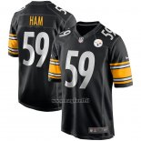 Maglia NFL Game Pittsburgh Steelers Jack Ham Retired Nero