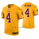 Maglia NFL Legend Washington Redskins Case Keenum Giallo