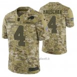 Maglia NFL Limited Buffalo Bills 4 Stephen Hauschka 2018 Salute To Service Camuffamento