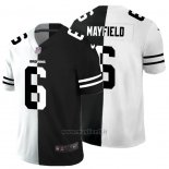 Maglia NFL Limited Cleveland Browns Mayfield White Black Split