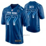 Maglia NFL Limited Dallas Cowboys Tyron Smith 2019 Pro Bowl Blu