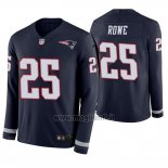 Maglia NFL Therma Manica Lunga New England Patriots Eric Rowe Blu