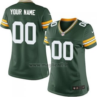 Maglia NFL Donna Green Bay Packers Personalizzate Verde