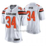 Maglia NFL Game Cleveland Browns Carlos Hyde Bianco