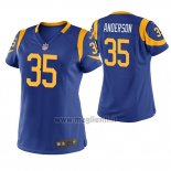 Maglia NFL Game Donna Los Angles Rams C.j. Anderson Blu