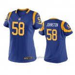 Maglia NFL Game Donna Los Angles Rams Clay Johnston Blu