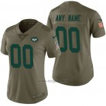 Maglia NFL Limited Donna New York Jets Personalizzate 2017 Salute To Service Verde