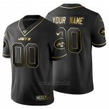 Maglia NFL Limited New York Jets Personalizzate Golden Edition Nero