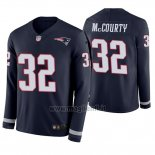 Maglia NFL Therma Manica Lunga New England Patriots Devin Mccourty Blu