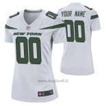 Maglia NFL Game Donna New York Jets Personalizzate Game Bianco