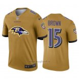 Maglia NFL Limited Baltimore Ravens Brown Big Logo Giallo